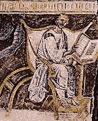 Earliest-known fresco of Augustine
