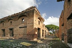 The preserved ruins of Ostia today