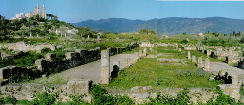 Hippo church ruins and hilltop basilica at Annaba