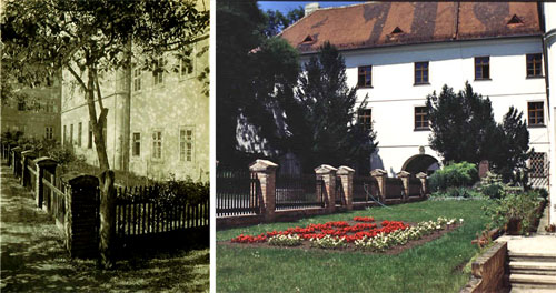 Gregor Mendel's garden, photographed over a century ago, and again today