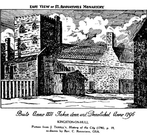 A sketch of the Austin Friars' site just before its demolition in 1796