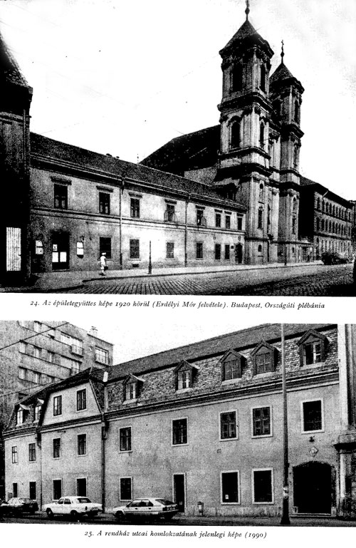 Former Augustinian priory, photographed in 1920 and 1990