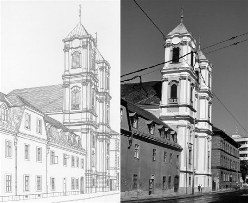 The present Church at Buda, begun by the Augustinians  in 1752.
