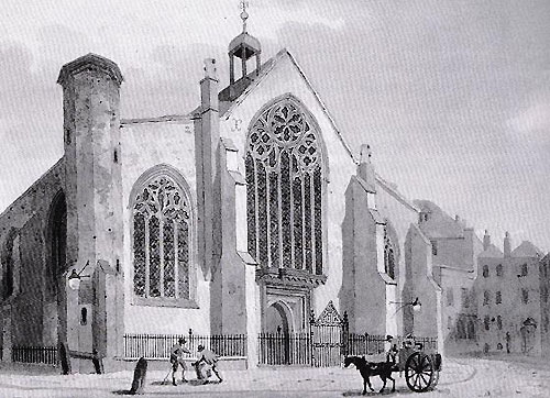 The pre-Reformation St Augustine's Church in London, 1354 - 1538