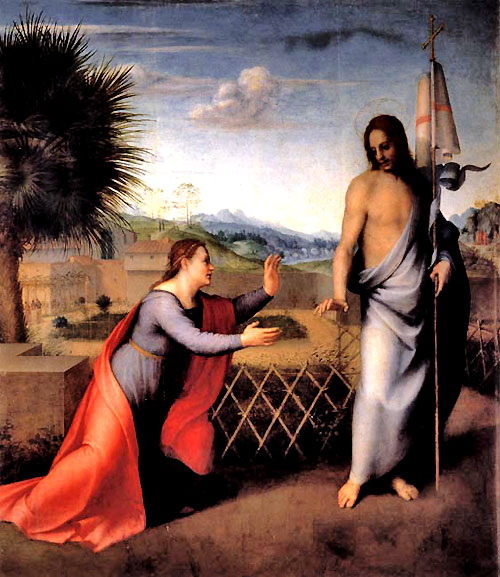"Noli tangere (""Do not touch me"") by  the young Andrea del Sarto (1486 - 1530)."