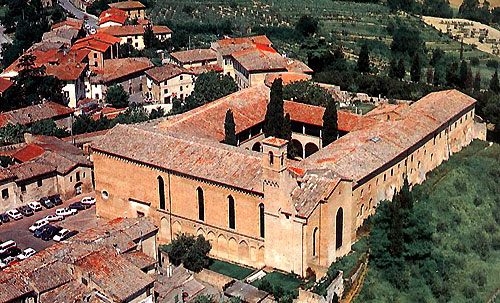 The Augustinian monastery at San Gimignano, built between 1298 and 1465