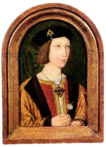 The bridegroom Prince Arthur Tudor, older brother of Henry VIII.