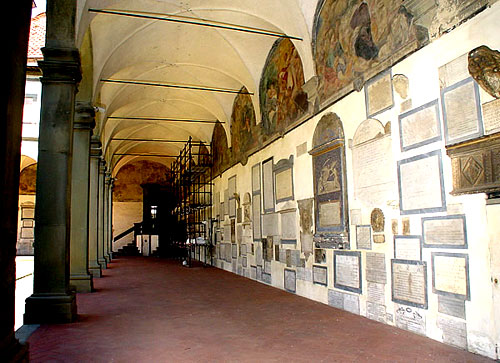 Part of the former Augustinian Santo Spirito Monastery cloister, Florence