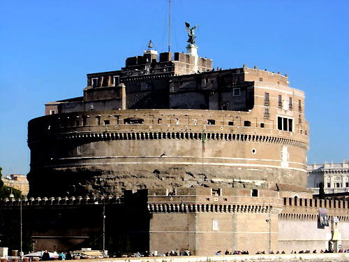 Castel Sant'Angelo, where Ambrose Massari was imprusoned by the Pope