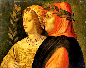 Painting: Petrarch and Lady Truth