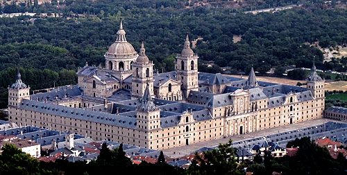The Royal Monastery of St Laurence at Escorial, built by Philip II in 1563