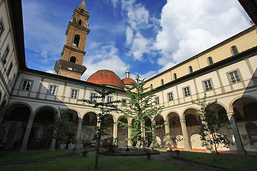 The first cloister at Santo Spirito Monastery in Florence