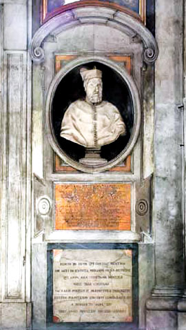 A bust of Jerome Seripando in Rome
