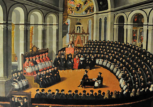 An artistic impression of the Council of Trent