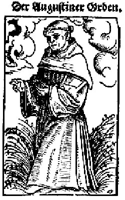 Woodcut of an Augustinian friar