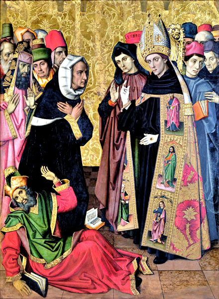 Vergós Group: Saint Augustine disputing with the heretics
