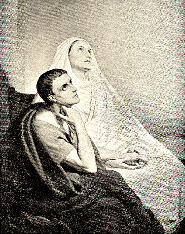 Mother and son, Sts Augustine and Monica, in ecstacsy