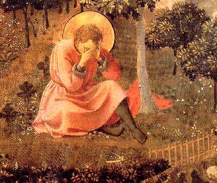 Augustine in the throes of indecision in the garden at Milan