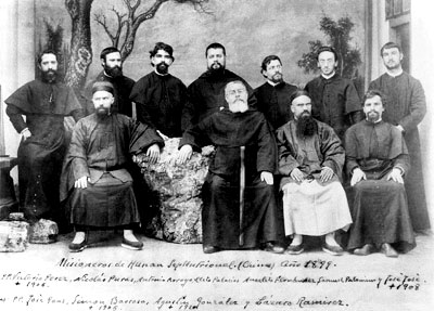 Spanish and Chinese Augustinians in China circa 1871.