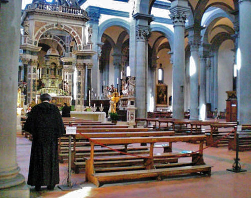 The Renaissance Santo Spirito Church in Florence, staffed by Augustinians.