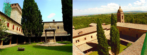 The monastery at Lecceto, conducted by Augustinian contemplative nuns