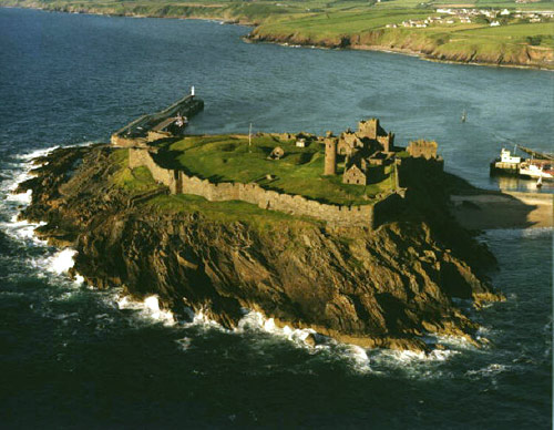 Eleanor's final place of exile, Peel Castle, off the isolated Isle of Man