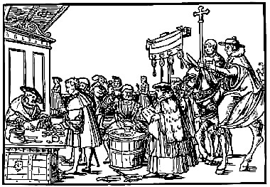 Woodcut: Martin Luther at the Diet of Worms