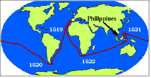 The first circumnavigation of the world took over three years.