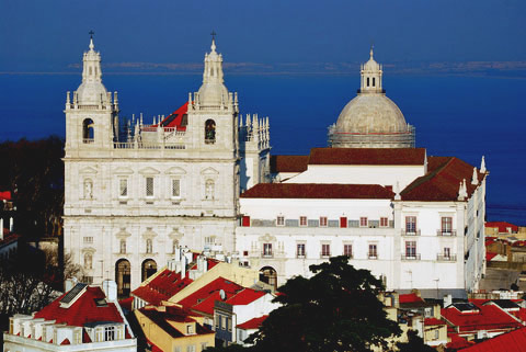 Former Augustinian church and monastery of Our Lady of Grace, Santarem, Lisbon, Portugal.