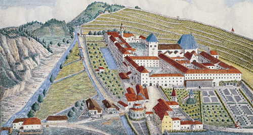 A sketch of a former monastery of Augustinian Canons in Germany