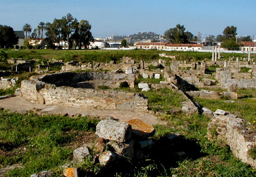 Ruins of the altar end of Augustine's small Basilica of Peace at Hippo