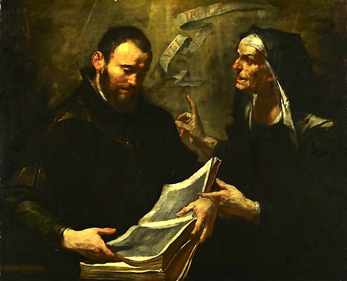 Augustine and Monica, by Gioacchino Assereto (1600 - 1649)