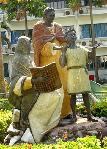 Adeodatus and his two parents: Collegio San Agustin at Makati, Metro Manila, Philippines