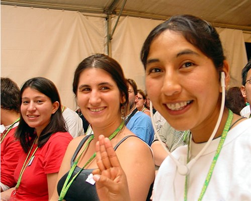 Young adults from Argentina at an Augustinian International Encounter