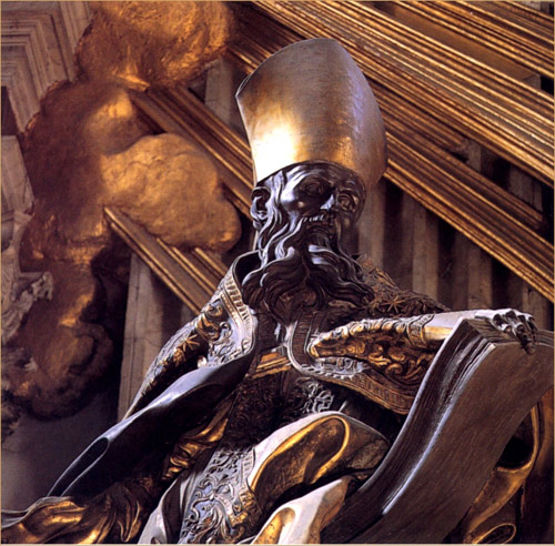 Augustine, by Bernini at the main altar of St Peter's Basilica, Rome