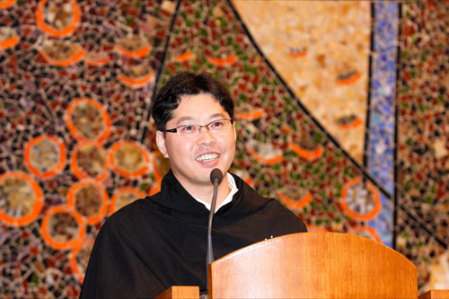 A young Korean Augustinian preaching in South Korea