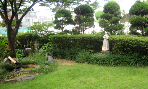 Prayer garden at Augustinian Priory, Incheon, South Korea