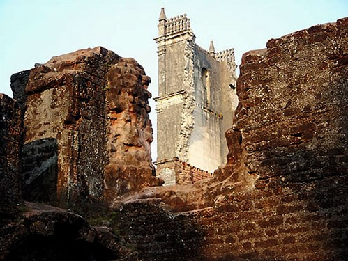 "Some of the ruins today of the Augustinian Church of Nossa Senhora da Gracia (Our Lady of Grace) in Velha Goa (""Old Goa"")."