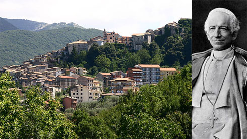 The home town of Pope Leo XIII, Carpineto, Italy,