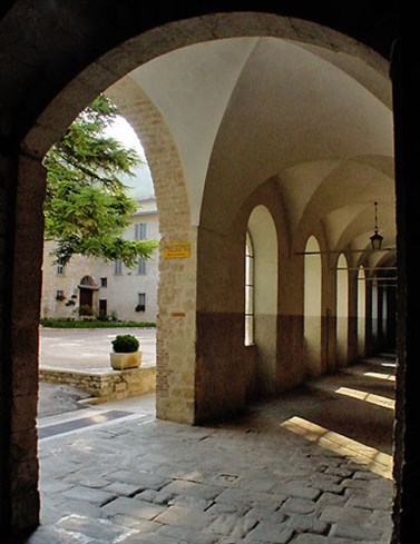 Cloister of the Augustinian Monastery at Gubbio
