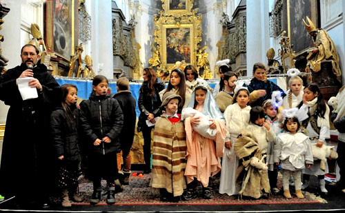 2014 Christmas pageant in the Augustinian Church at Prague