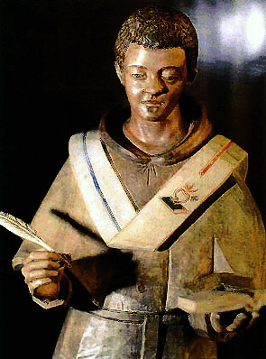 Wooden statue of St Augustine, Netherlands