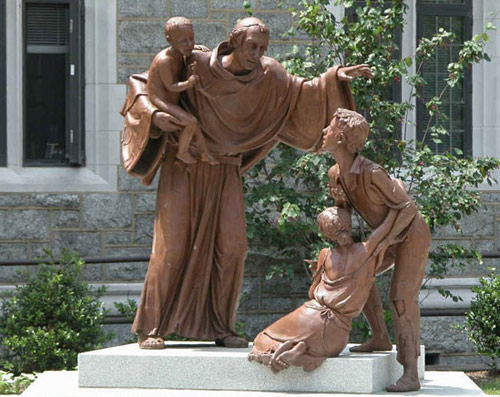 Melchiorre Caffà: The Charity of Thomas of Villanova - at Villanova University