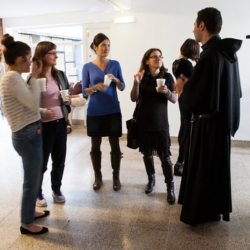 An Augustinian and young adults at the Austin Forum in London
